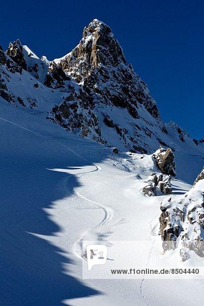 Man skiing in Davos  Switzerland