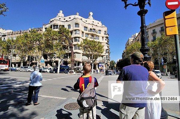 Wohnhaus Straße Architekt Barcelona Katalonien Spanien