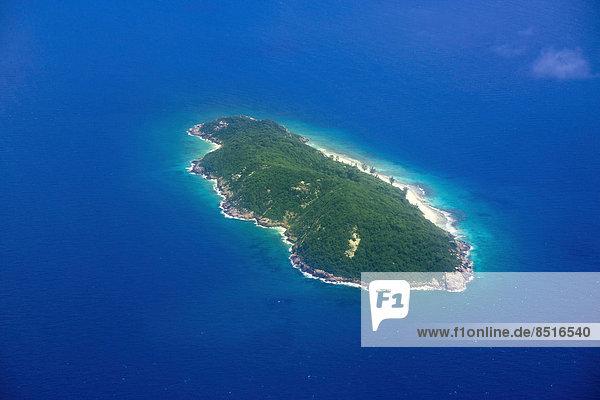 Aerial view  Aride Island  Seychelles