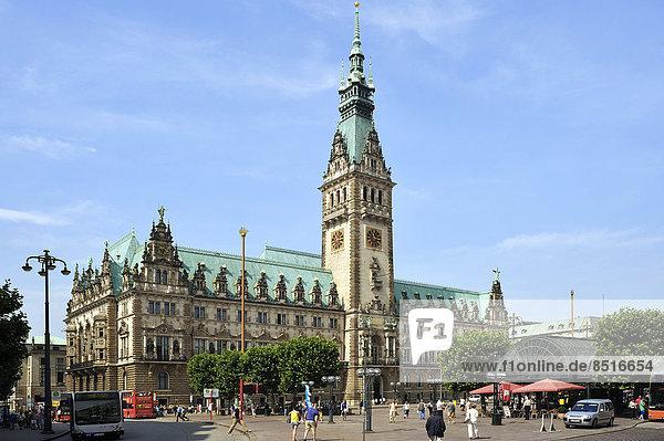 Hamburger Rathaus  Hamburg  Deutschland