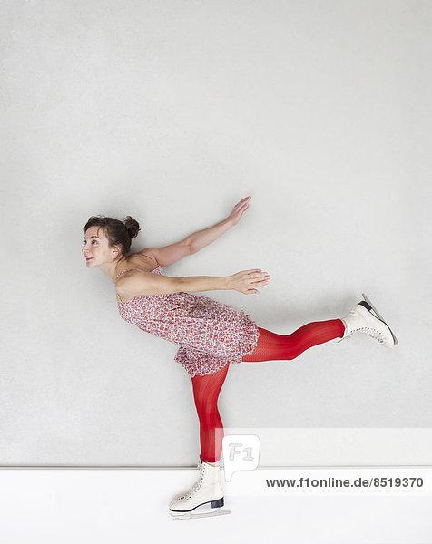 Eiskunstlauf-Frau