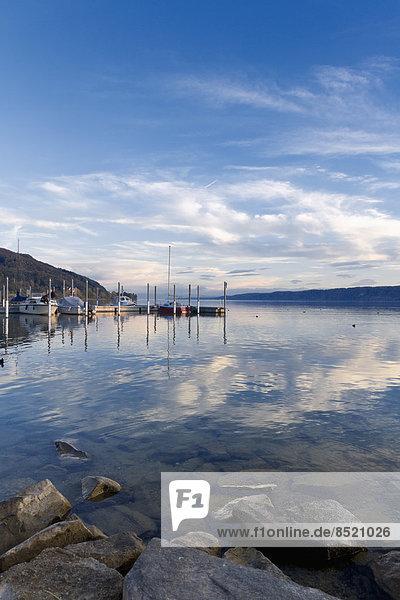 Germany  Baden-Wuerttemberg  Bodman-Ludwigshafen  Uberling Lake  marina