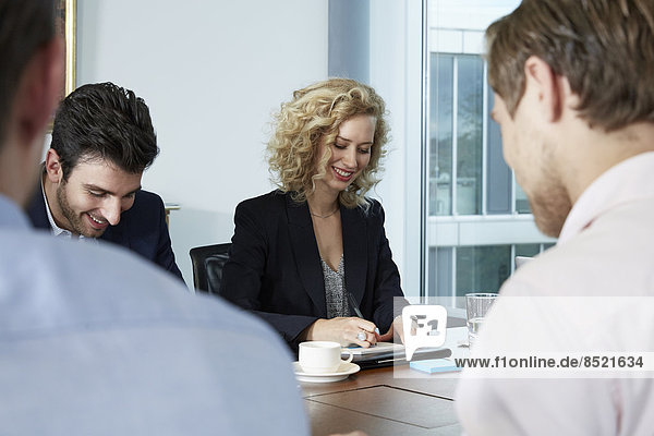 Germany  Neuss  Business people in meeting