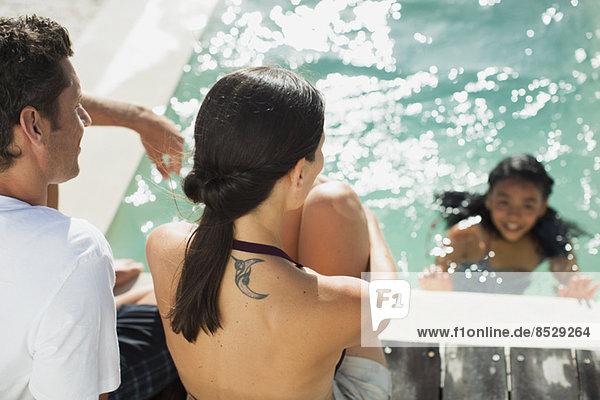 Familienerholung im Schwimmbad