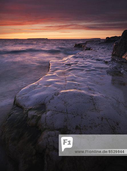 Sonnenuntergang über der Georgian Bay  Bruce-Peninsula-Nationalpark  Ontario  Kanada