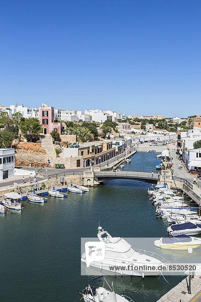 Natural harbour  Ciutadella  Menorca  Spain
