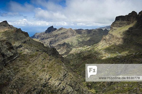 Teno-Gebirge bei Garachico  Teneriffa  Kanarische Inseln  Spanien