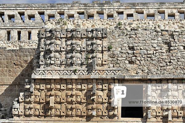 Cuadrangulo de las Monjas oder Nonnenviereck  Ruinen der Maya in Uxmal  UNESCO-Welterbe  Uxmal  Region Yucatán  Mexiko