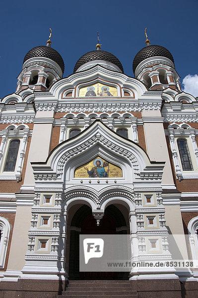 Alexander-Newski-Kathedrale  Tallinn  Estland  Baltikum