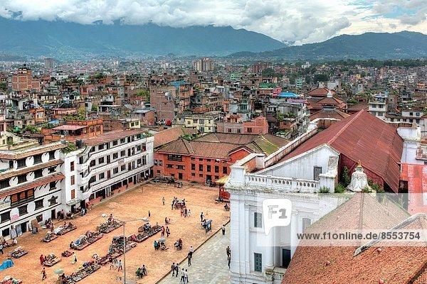 Basantapur square  Cityscape from Hanuman Dhoka Royal Palace Complex  Kathmandu  Nepal.