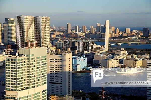 Fischereihafen  Fischerhafen  Skyline  Skylines  Tokyo  Hauptstadt  Luftbild  Japan