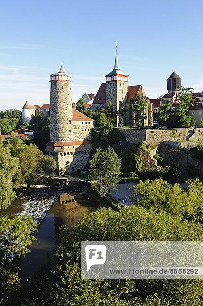 '''Alte Wasserkunst'' und Michaeliskirche  Bautzen  Sachsen  Deutschland'