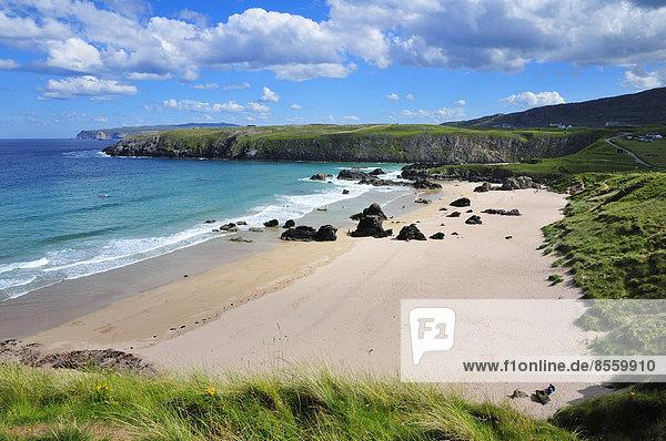 Strand der Sango Bay  Durness  Caithness  Sutherland and Easter Ross  Schottland  Großbritannien