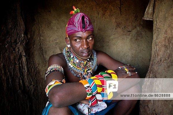 Samburu tribe in Northern Kenya.