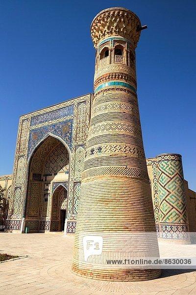 Denkmal  bitten  Komplexität  Minarett  Usbekistan