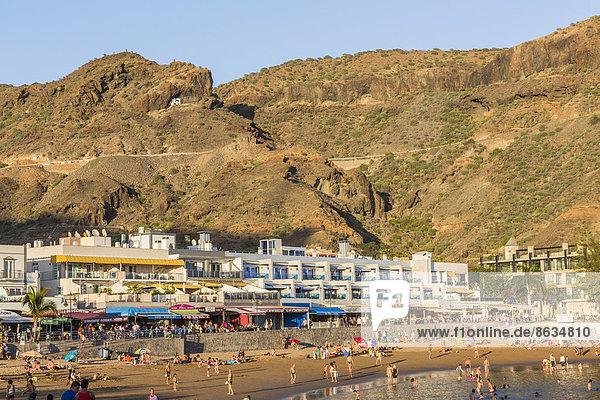 Strand  Puerto de Mogan  Gran Canaria  Kanarische Inseln  Spanien