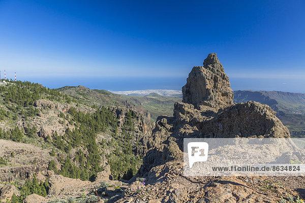 Summit of Pico de las Nieves  Gran Canaria  Canary Islands  Spain