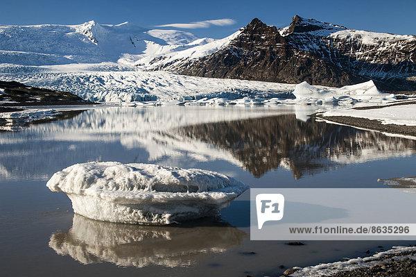 Am Gletschersee Fjallsjökull  Austurland  Island