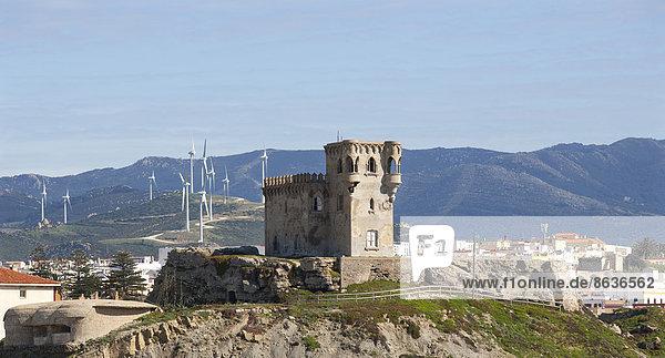 Windturbine Windrad Windräder Andalusien Spanien Tarifa