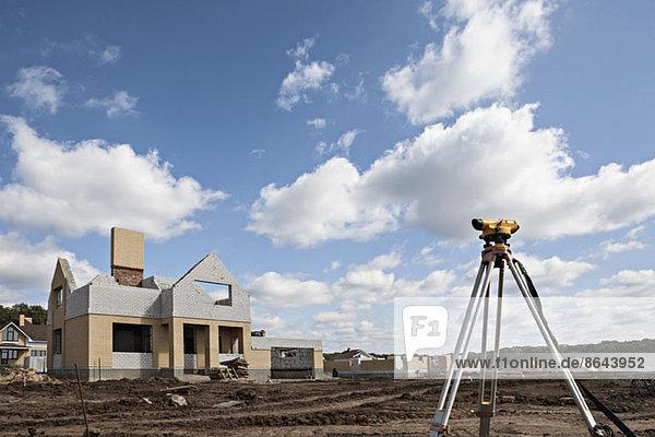 Theodolit auf der Baustelle