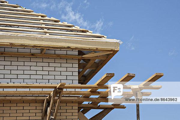 Holzdach im Bau