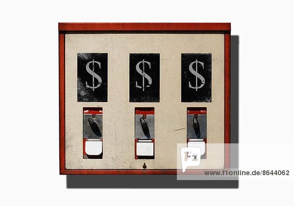 Abbildung von Dollarzeichen an einem Automaten