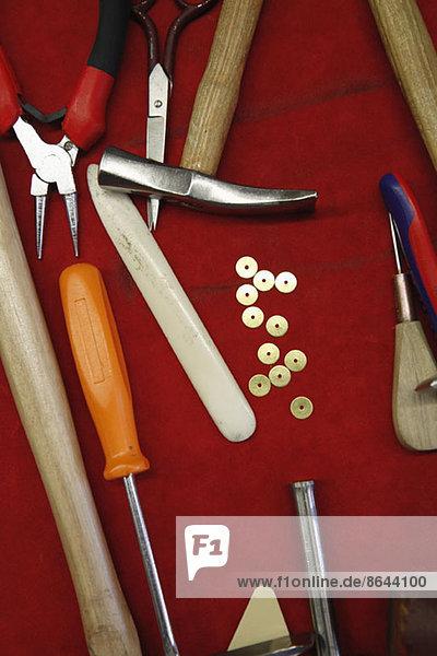 Verschiedene Werkzeugtypen  Nahaufnahme