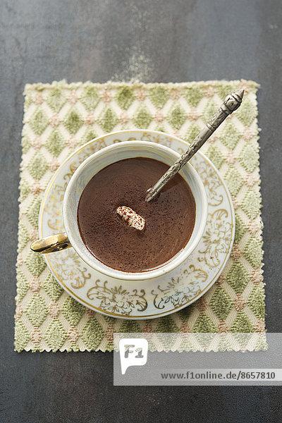 Fröhlichkeit  Schokolade  Sahne