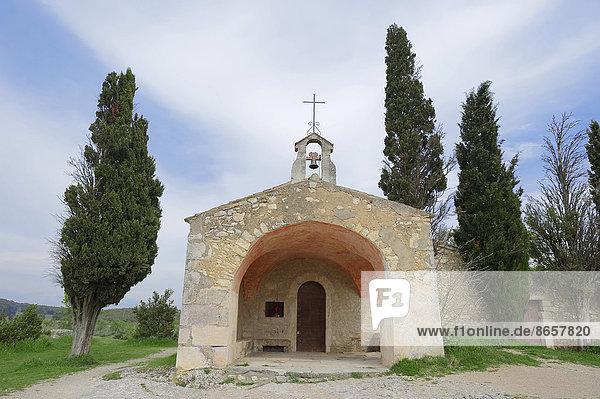 Kapelle Saint-Sixte  Eygalieres  Bouches-du-Rhone  Provence-Alpes-Cote d'Azur  Südfrankreich  Frankreich