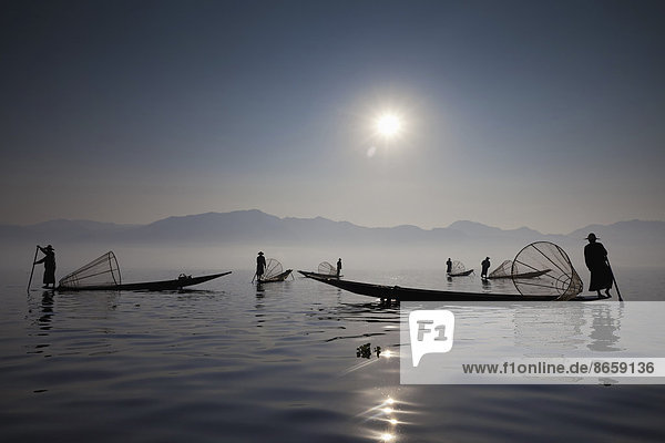 Fischer am Inle-See  Myanmar