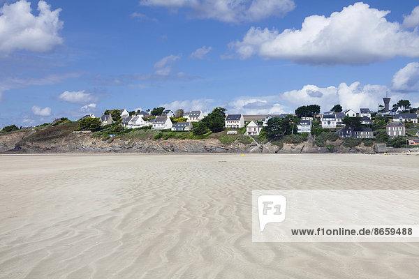 Frankreich Strand Gebäude Bretagne