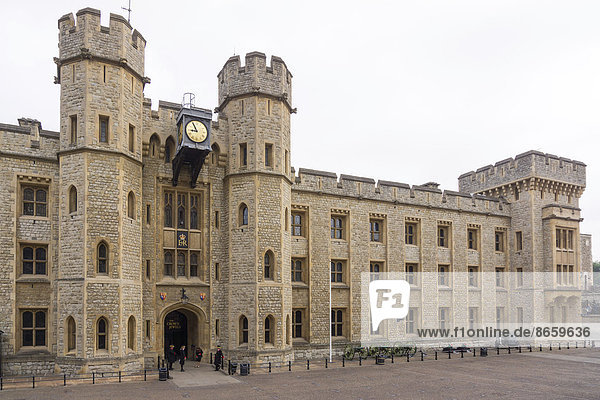 Waterloo Barracks with the Jewel House  site of the British Crown Jewels  Tower of London  UNESCO World Heritage Site  London  England  United Kingdom