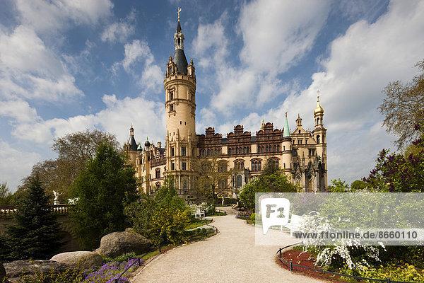 Schwerin Castle  Schwerin  Mecklenburg-Western Pomerania  Germany