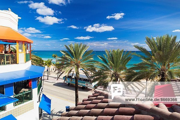 USA  Florida  Fort Lauderdale  Fort Lauderdale Beach  elevated view.