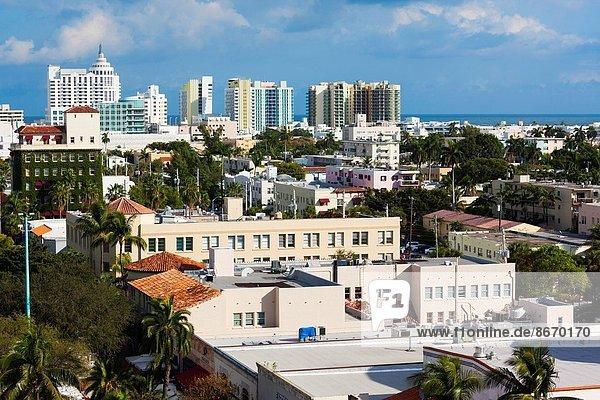 Vereinigte Staaten von Amerika  USA  Erhöhte Ansicht  Aufsicht  Florida  Miami Beach