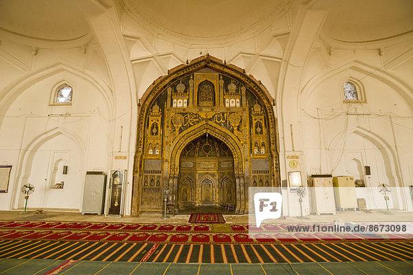 Mihrab  Gebetsnische der Jama Masjid  Bijapur  Karnataka  Indien