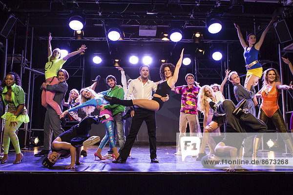 Performers in the musical Flashdance in Le Théâtre in Kriens  Lucerne  Switzerland