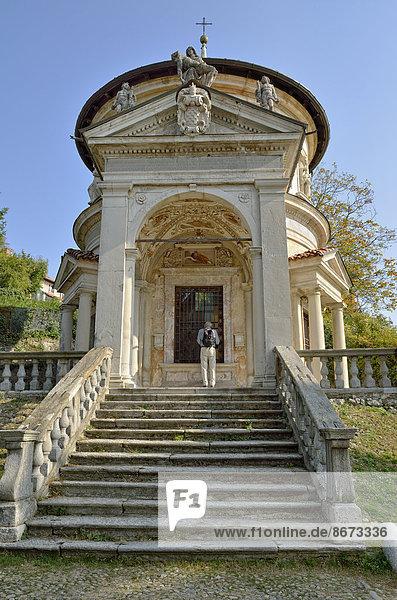 Kapelle VII  historischer Pilgerweg zum Wallfahrtsort Santa Maria del Monte auf dem Sacro Monte di Varese  UNESCO Weltkulturerbe  Varese  Lombardei  Italien