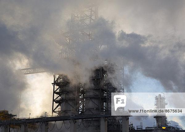 The Marathon Petroleum refinery  Detroit  Michigan  United States