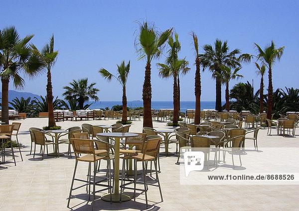 sitzend Strand Hotel Ansicht Zimmer Mittelmeer