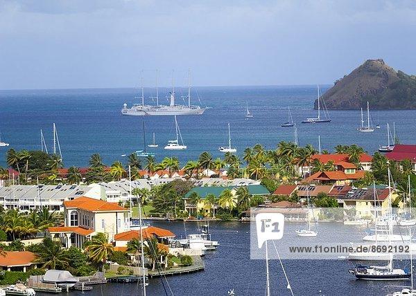 Karibik  Kleine Antillen  Saint Lucia  Rodney Bay  Yachthafen