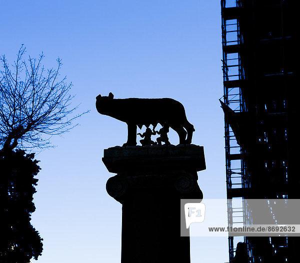 Italien  Rom  Skulptur von Romulus und Remus