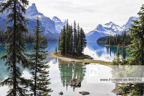 Kanada  Alberta  Jasper Nationalpark  Maligne Berg  Maligne See  Spirit Island Kanada, Alberta, Jasper Nationalpark, Maligne Berg, Maligne See, Spirit Island