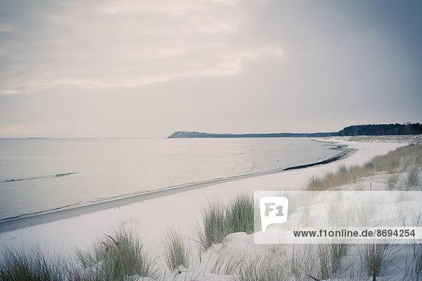 Deutschland  Mecklenburg-Vorpommern  Rügen  Ostsee im Winter