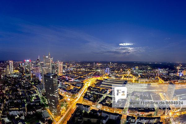 Deutschland  Hessen  Frankfurt  Stadtbild bei Nacht