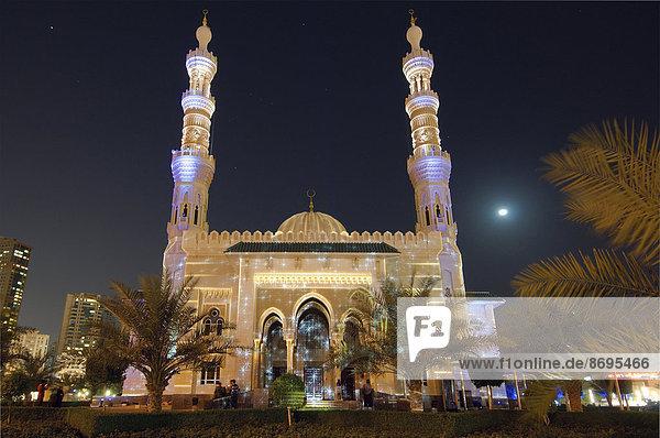 Sharjah Licht-Festival  Masjid Al Majaz Moschee  Emirat Schardscha  Vereinigte Arabische Emirate