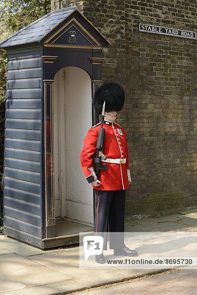 Königliche Wache  Clarence House  London  England  Großbritannien