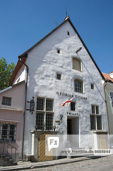 Georgia Tavern  Rüütli  Altstadt  Tallinn  Estland  Baltikum