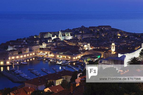 Hafen, Geschichte, Kroatien, Dalmatien, Dubrovnik, Abenddämmerung, alt