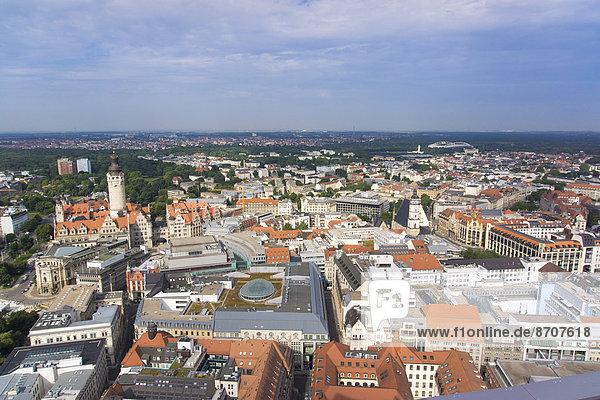 Cityscape  Leipzig  Saxony  Germany